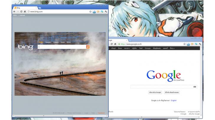 วิธีง่ายๆ ในการเปิดหน้าต่างใน Windows 7 พร้อมกัน 2 อัน เพื่อเปรียบเทียบข้อมูล