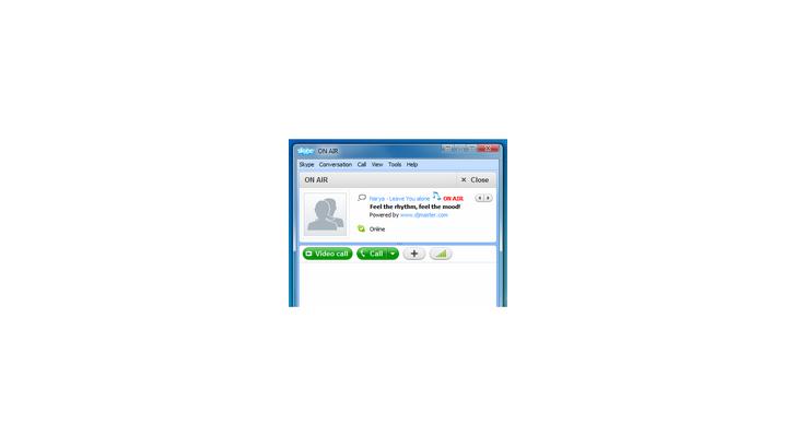 วิธีโชว์ชื่อเพลงที่กำลังฟังใน Skype
