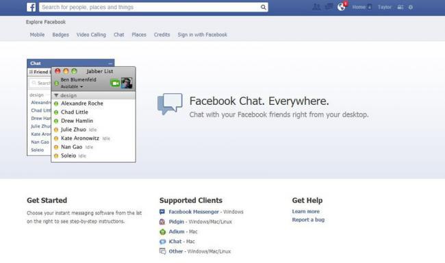 Facebook Desktop Chat