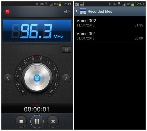 สามารถบันทึกเสียงจากวิทยุ FM เก็บไว้บนเครื่องได้