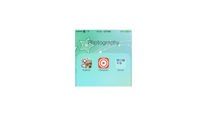 วิธีจับ Folder ซ้อน Folder ใน iOS 7