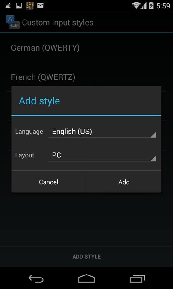 how to add another language to keyboard android