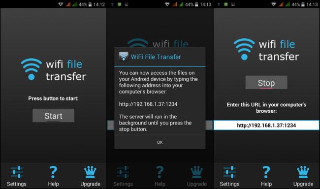 App จัดการไฟล์ WiFi File Transfer