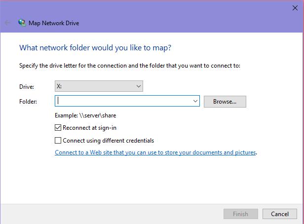 วิธีการ Map Network Drive