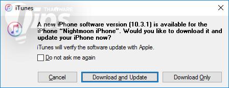 วิธีอัพเดท iOS 10.3.1 พร้อมลิงค์ดาวน์โหลด Firmware โดยตรง