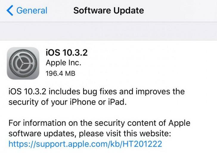 วิธีอัพเดท iOS 10.3.2 พร้อมลิงค์ดาวน์โหลด Firmware โดยตรง