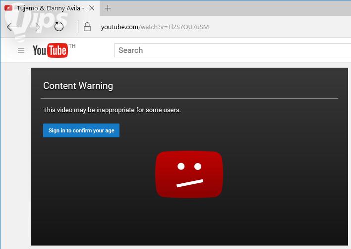 วิธีชมวีดีโอที่มีการตรวจสอบอายุบน YouTube โดยไม่ต้อง Log in เข้าระบบ