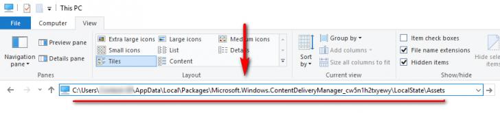 วิธีโหลดภาพ Spotlight พื้นหลังล็อกหน้าจอ บน Windows 10 มาใช้งาน