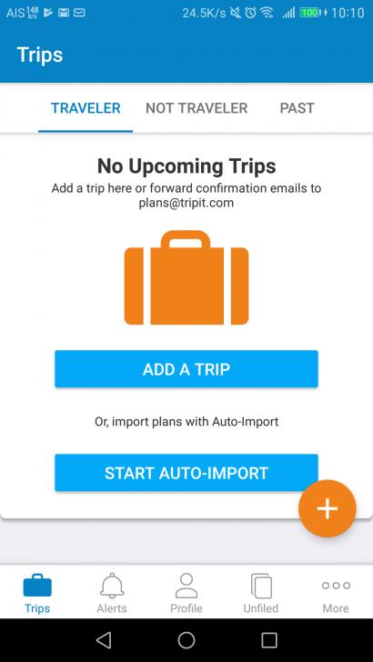 TripIT วางแผนทริป การเดินทาง