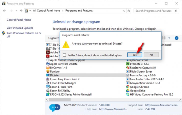 ถอนการติดตั้งโปรแกรมด้วยตัวเอง โดยไม่ใช้โปรแกรมเสริม บน Windows 10 ง่ายๆ