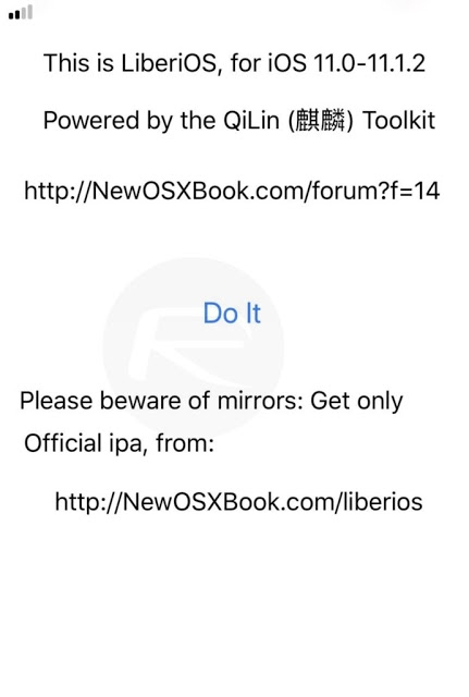 วิธีและขั้นตอนเจลเบรค iOS 11 - iOS 11.1.2 แบบ Semi-Jailbreak ด้วย LiberiOS