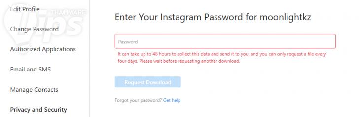 วิธีดาวน์โหลดข้อมูลการใช้งานจาก Instagram ของเรามาสำรองเก็บไว้