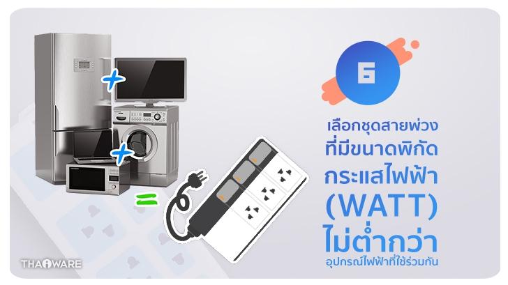 [Thaiware Infographic 58] รู้จักมาตรฐาน มอก. ปลั๊กพ่วง มอก. 2432-2555