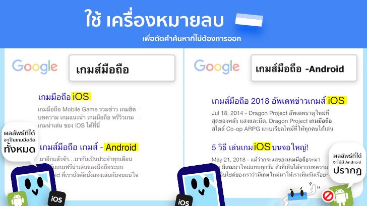 [Thaiware Infographic 60] วิธีค้นหา Google แบบมือโปร