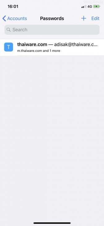 วิธีใช้ระบบกรอกบัญชี, รหัสผ่าน และบัตรเครดิตให้เราอัตโนมัติบน iOS