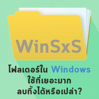 โฟลเดอร์ WinSxS ใน Windows 10 คืออะไร ? มีประโยชน์อะไร ? ทำไมถึงใช้พื้นที่เยอะ
