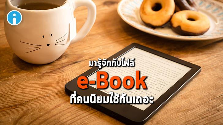 5 ไฟล์ e-Book ยอดนิยม ePUB, MOBI, AZW, IBA และ PDF แตกต่างกันอย่างไร ?